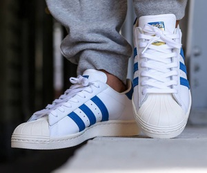 blue, white, and superstars image