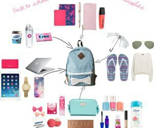 backpack, essentials, and school image