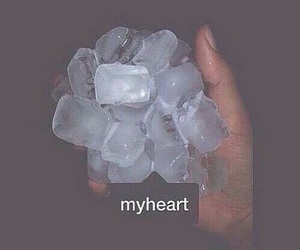 heart, ice, and cold image