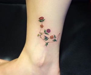 constellation, flower, and tattoo image