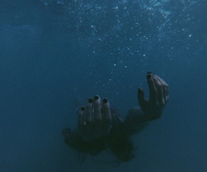 water, grunge, and hands image