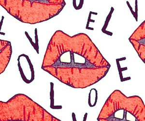 love, lips, and red image