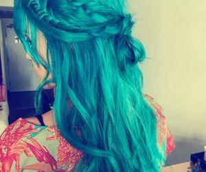 cabelo, cabelos, and cabelo azul image