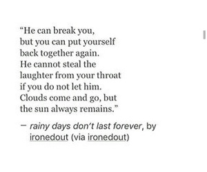 boy, broken, and quote image