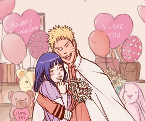 naruto, naruto uzumaki, and anime couple image
