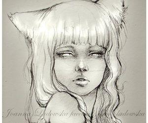 girl, fox ears, and ladowska image