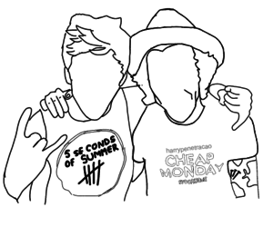 outlines, niall horan, and narry image