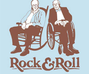 funny, old people, and rock and roll image