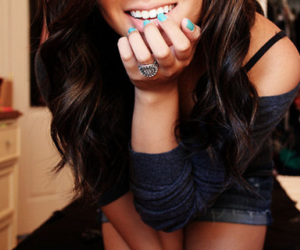 girl, smile, and nails image
