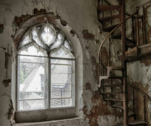 spiral staircase, victorian, and windows image