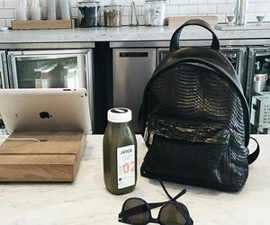 bag, sunglasses, and ipad image
