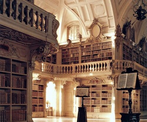 architecture, classic, and shelves image