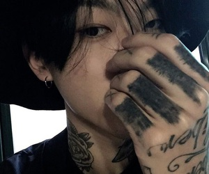ulzzang, tattoo, and boy image