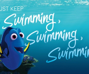 disney, just keep swimming, and dory image
