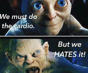 funny, cardio, and lord of the rings image