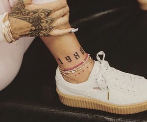 rihanna, tattoo, and puma image