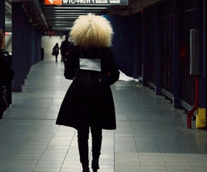 curly hair and blonde afro image