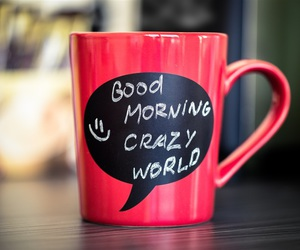 coffee, red, and good morning image
