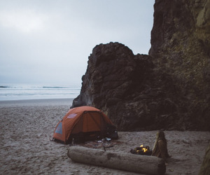 beach, travel, and camp image