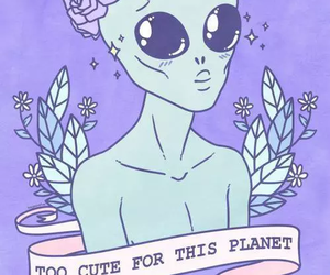 alien, planet, and grunge image