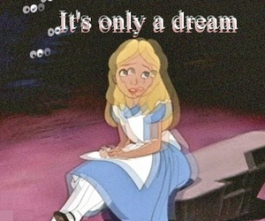 Dream, alice, and alice in wonderland image