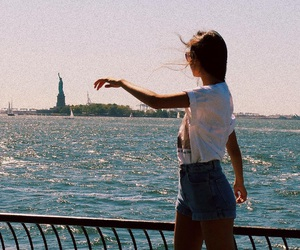 girl, new york, and summer image