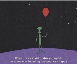 alien, balloons, and happy image