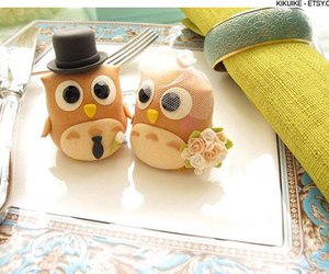 brown, cake, and owls image