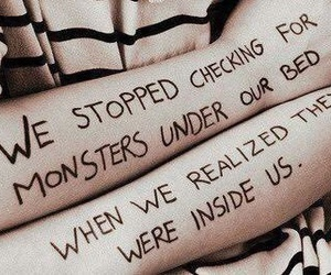 monster, quotes, and bed image