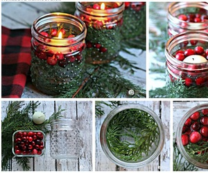 candles, christmas, and red image