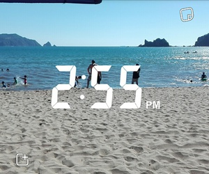 beach, time, and snapchat image