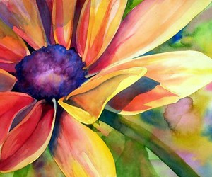 art, beautiful, and flower image