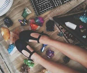 colorful, gemstones, and girl image