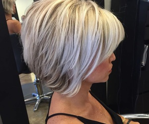 hairstyles, choppy bobs, and blonde bobs image