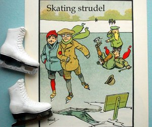 20s, illustration, and skates image