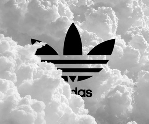 adidas, clouds, and white image