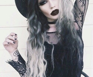 black, hair, and goth image