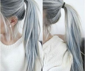 girl, grey hair, and grunge image