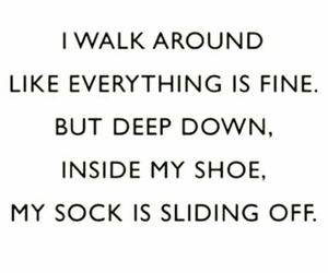 funny, qoute, and shoe image