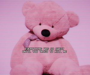 pink, teddy bear, and melanie martinez image