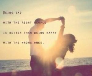 happy, sad, and quote image