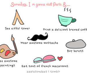 notes, paris, and one day image
