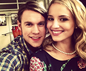 glee, dianna agron, and chord overstreet image
