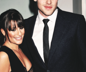 cory monteith, glee, and lea michele image