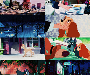 disney, lady and the tramp, and walt disney image