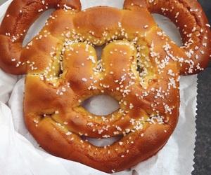 disneyland, mickey, and pretzel image