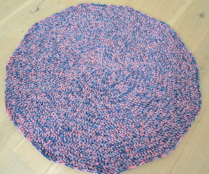 etsy, crochet rug, and colorful rug image
