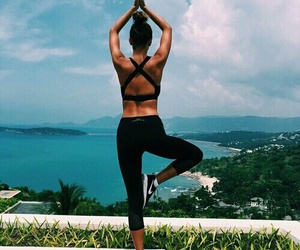 yoga, fitness, and summer image