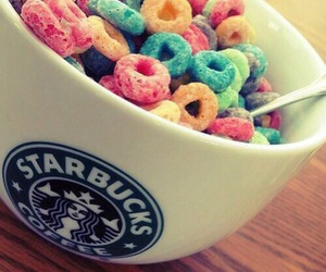 starbucks, cereal, and food image
