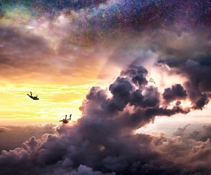 Flying and skydive image